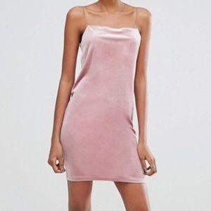 ASOS Light Pink Velvet Dress